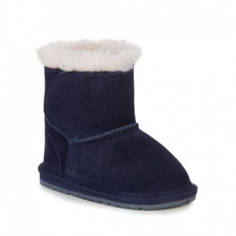 TODDLE navy blue flat closed boots for baby