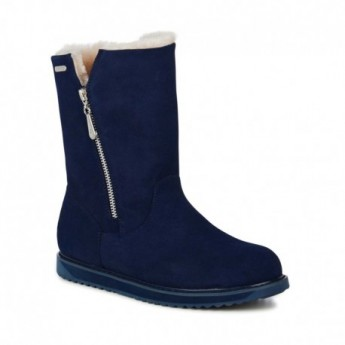 GRAVELLY blue closed boots for woman