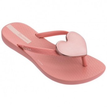 MAXI FASHION pink flat finger flip flops for girl