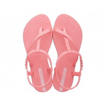 CLASS WISH pink flat finger sandals for woman