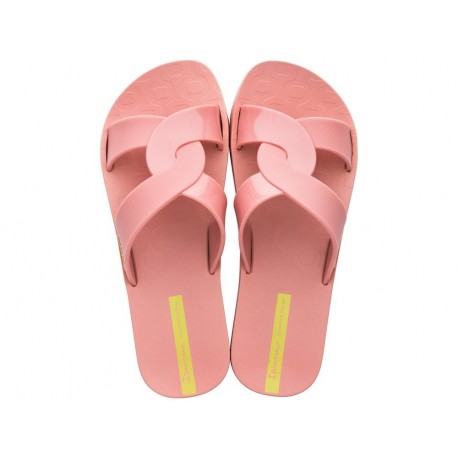FEEL pink flat shovel flip flops for woman