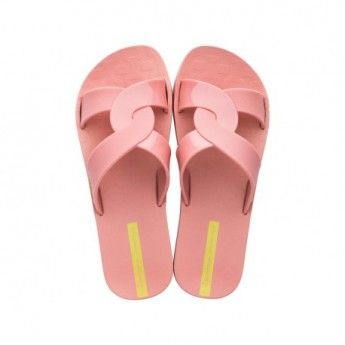 FEEL pink flat open flip flops for woman