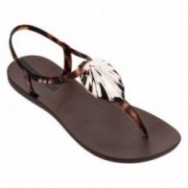 LEAF cristina pedroche brown flat finger sandals for woman