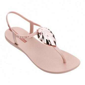 LEAF cristina pedroche pink flat finger sandals for woman