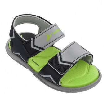 COMFORT grey flat open sandals for baby