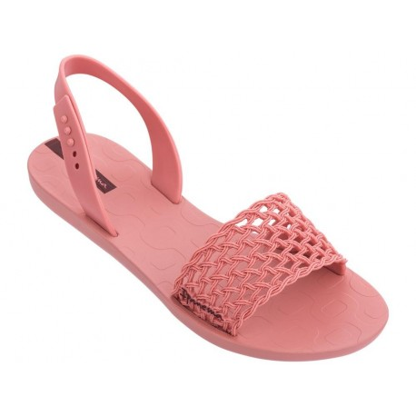 BREEZY cristina pedroche pink flat shovel sandals for woman