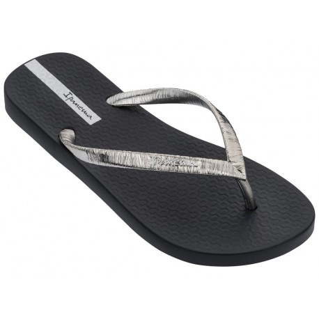 GLAM II black flat finger flip flops for woman