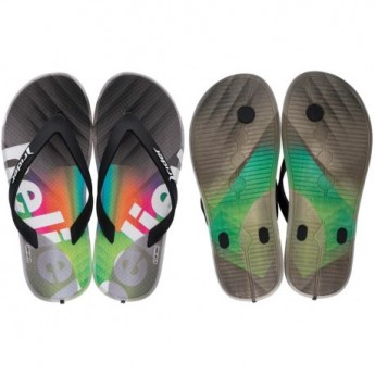R1 PLAY KIDS grey urban print flat finger flip flops for child