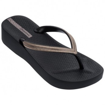 MESH V cristina pedroche black wedge finger flip flops for woman