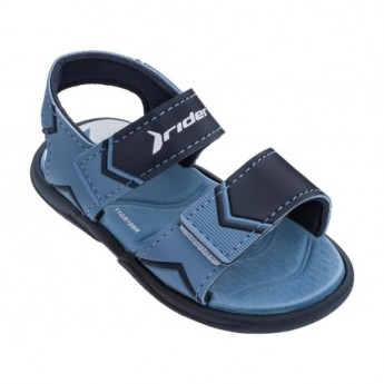 COMFORT blue flat open sandals for baby