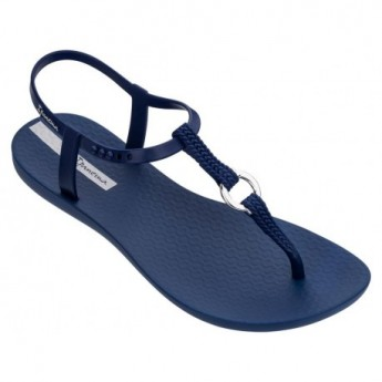 CHARM VII cristina pedroche blue flat open sandals for woman