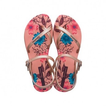 FASHION SAND VIII cristina pedroche pink floral print flat finger sandals for woman
