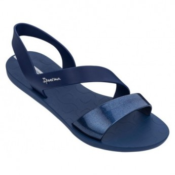 VIBE cristina pedroche navy blue flat shovel sandals for woman