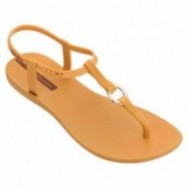 CHARM VII cristina pedroche yellow flat finger sandals for woman
