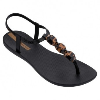 CHARM VII cristina pedroche black flat finger sandals for woman
