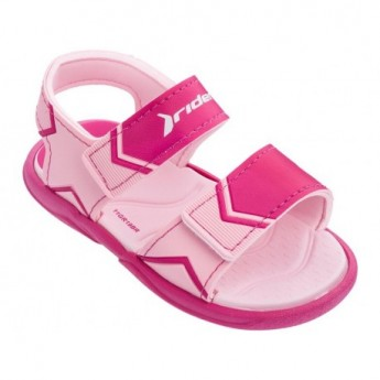 COMFORT pink flat roman sandals for baby