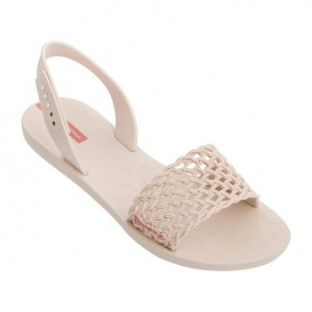 BREEZY beige flat open sandals for woman