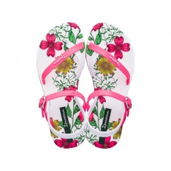 FASHION SD VII white floral print flat finger sandals for girl