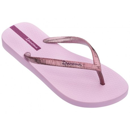 GLAM II pink flat finger flip flops for woman