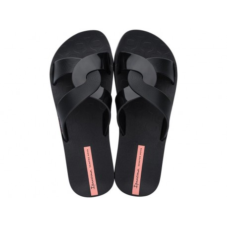 FEEL black flat shovel flip flops for woman