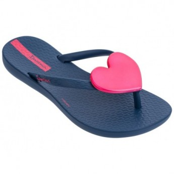 MAXI FASHION blue and pink flat finger flip flops for woman