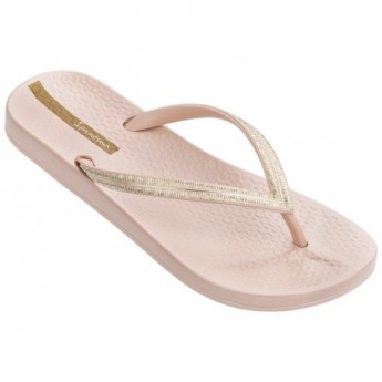 MESH IV beige flat finger flip flops for woman