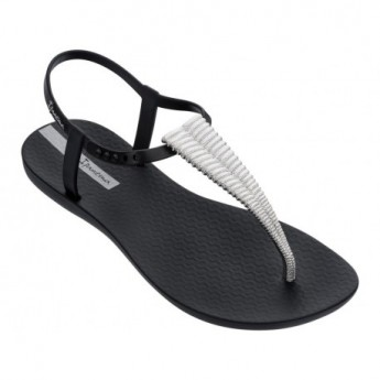 CLASS GLAM III black flat finger sandals for woman