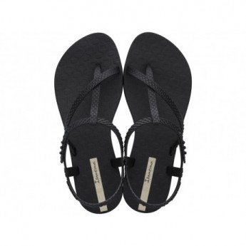 CLASS WISH cristina pedroche black flat finger sandals for woman