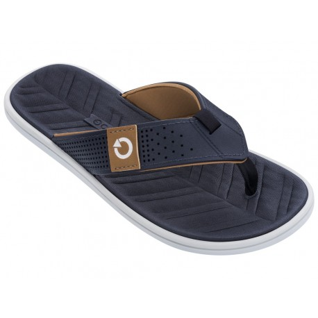 MALTA IV blue flat finger flip flops for man