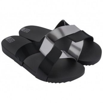 REFLEX black flat shovel sandals for woman