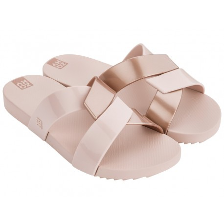 REFLEX nude flat shovel flip flops for woman