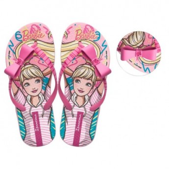 IPANEMA BARBIE STYLE pink fantasy print flat finger flip flops for girl