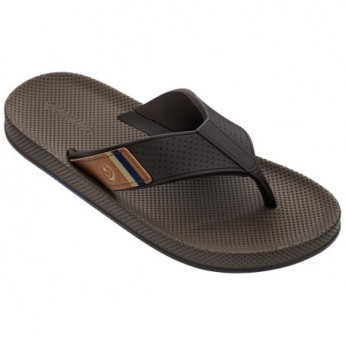 SIENA brown flat finger sandals for man