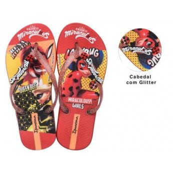 IPANEMA LADYBUG multicolored fantasy print flat finger flip flops for woman