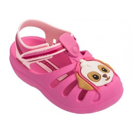 PATRULHA CANINA FRIENDS pink flat crab sandals for baby