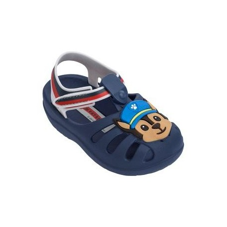 PATRULHA CANINA FRIENDS blue flat crab sandals for baby