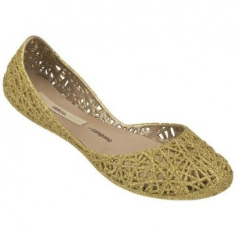 CAMPANA ZIG ZAG II campana brothers gold flat closed ballet flats for woman