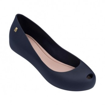 ULTRAGIRL BASIC navy blue fino closed ballet flats for woman