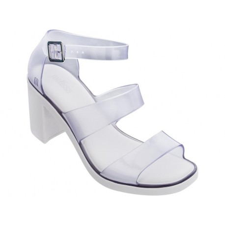 MODEL transparent middle open sandals for woman