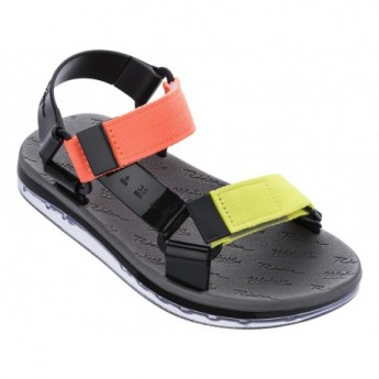 PAPETE + RIDER love match multicolored flat roman sandals for woman