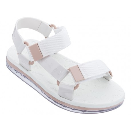 PAPETE + RIDER white flat roman sandals for woman