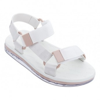 PAPETE + RIDER love match white flat roman sandals for woman