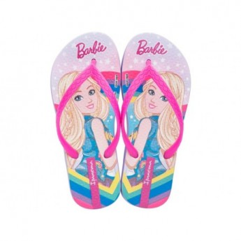 IPANEMA BARBIE III pink and lila fantasy print flat finger flip flops for girl
