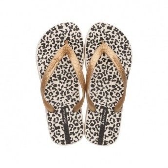 CLASS HAPPY leopard animal print flat finger flip flops for woman