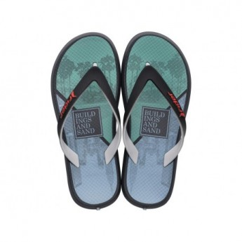 ENERGY VII grey urban print flat finger flip flops for child