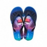 R1 ENERGY 360 blue and lila urban print flat finger flip flops for man