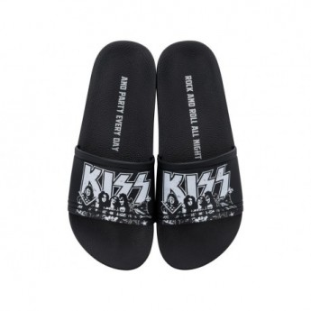 RIDER KISS black flat shovel flip flops for man