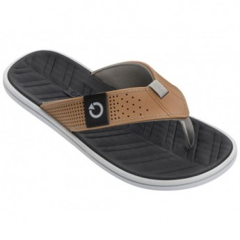 MALTA IV brown and grey flat finger flip flops for man