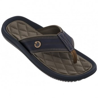 FIJI IV brown flat finger flip flops for man