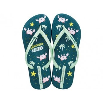 + MR WONDERFUL green flat finger flip flops for woman
